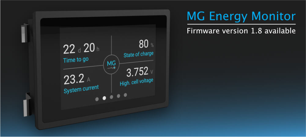 MG Energy Monitor firmware version