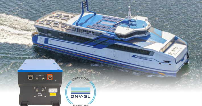 DNV GL RS liquid cooled lithium ion battery