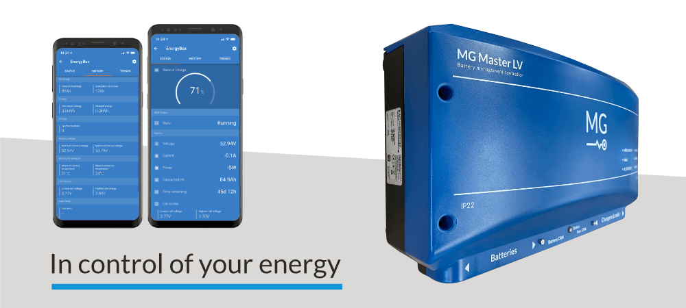 VictronConnect battery monitoring