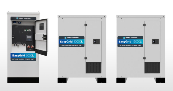 EasyGrid lithium hybrid power units Energy Solutions UK Ltd